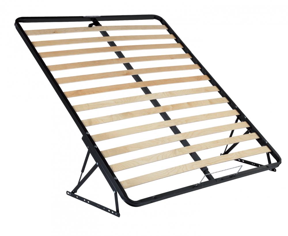 Somiera de pat rabatabila din metal si lemn stratificat, 180×200